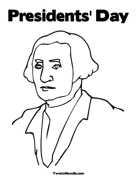 presidents day free colouring pages