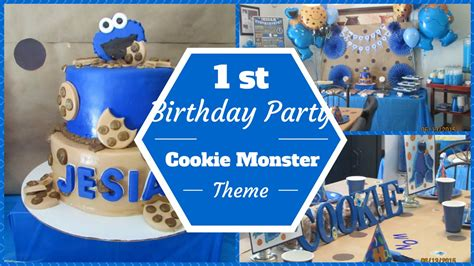 Table Decoration Ideas For Birthday Party by Cookie Monster Theme 1st Birthday Party Dollar Tree