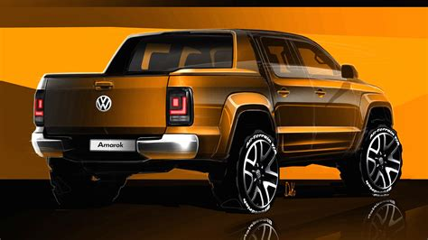 volkswagen amarok 2017 volkswagen amarok sketches revealed photos 1 of 9
