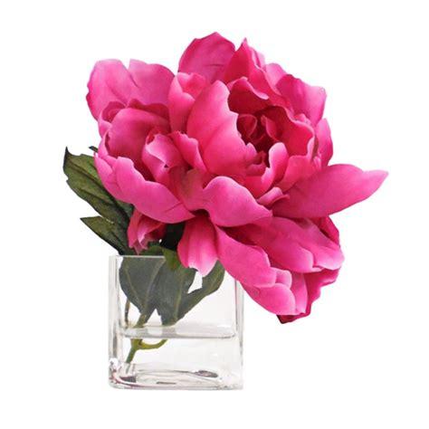 peony arrangement silk peony arrangement in hot pink dream home pinterest