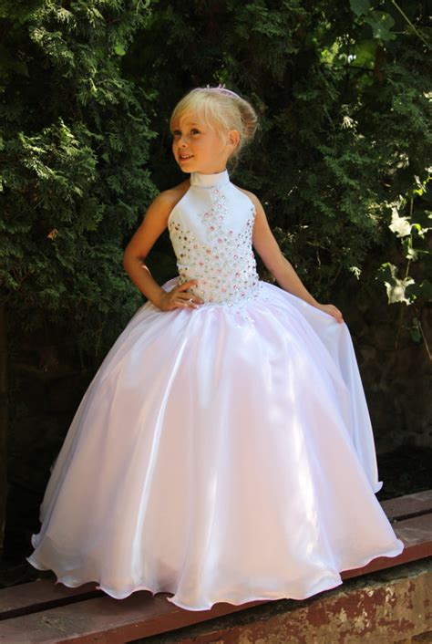 wedding vestidos and kid on pinterest pink and white flower girls dress birthday wedding party