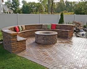 Brick Patio With Fire Pit by Paver Patio Fire Pit Designs Fire Pit Design Ideas