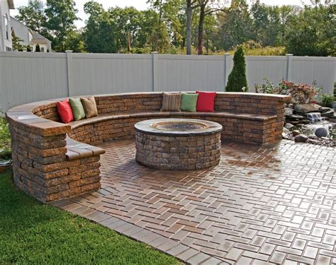 Brick Patio With Pit by Paver Patio Pit Designs Pit Design Ideas