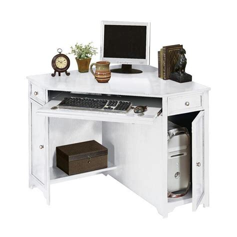 Corner Laptop Desks For Home Home Decorators Collection Oxford White 50 In W Corner Computer Desk 5953900410 The Home Depot
