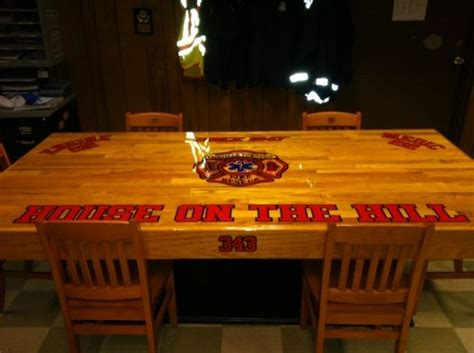 Firehouse Kitchen Tables Custom Firehouse Kitchen Table Fairfield Township Ohio The Critic Fd