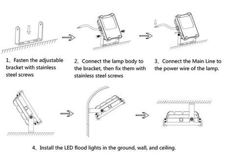 led flood light led flood light installation guide