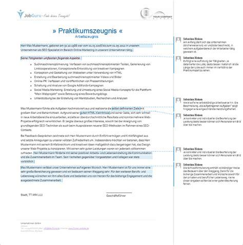 Dienstzeugnis Praktikum Vorlage Qualifiziertes Arbeitszeugnis Muster Und Geheim Code