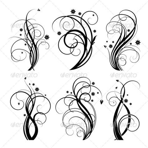 flourish tattoo designs vector floral designs 6 swirls graphicriver