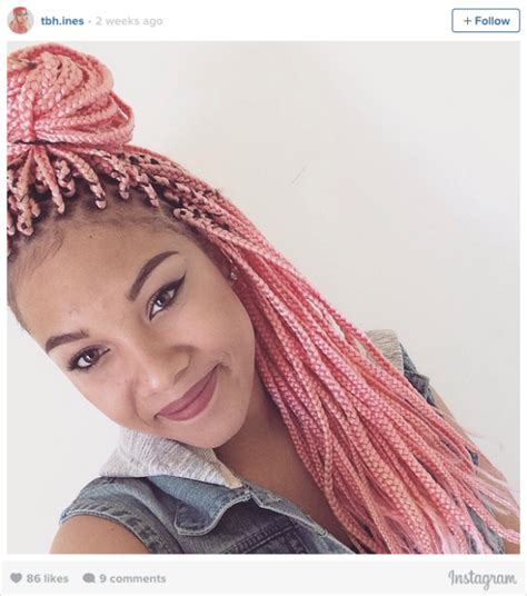 instagrm hair briad box com 16 stunning photos of colored box braids the summer