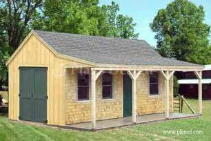 Shed Designs With Porch by 12 X 20 Building Cottage Shed With Porch Plans Material