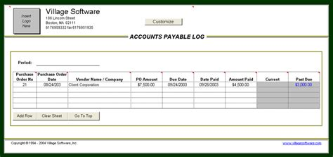 account payable template accounts payable log analytical excel spreadsheets