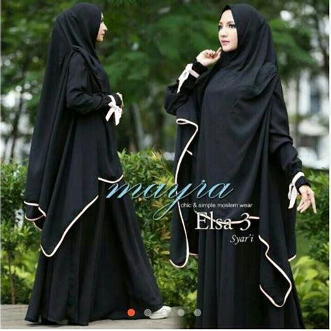 Syari Jersey Fit To Xl elsa 3 syari new ks bahan jersey premium bergo panjang fit