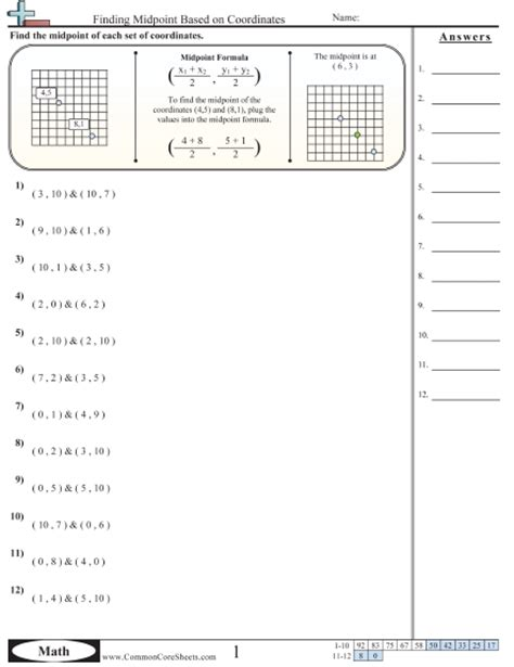 pictures midpoint and distance worksheet getadating