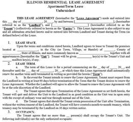 illinois residential tenancy lease agreement illinois