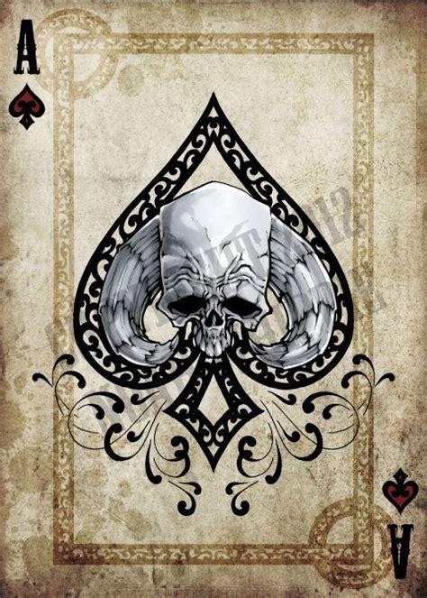 skull spade tattoo designs ace of spades card designs search c rd