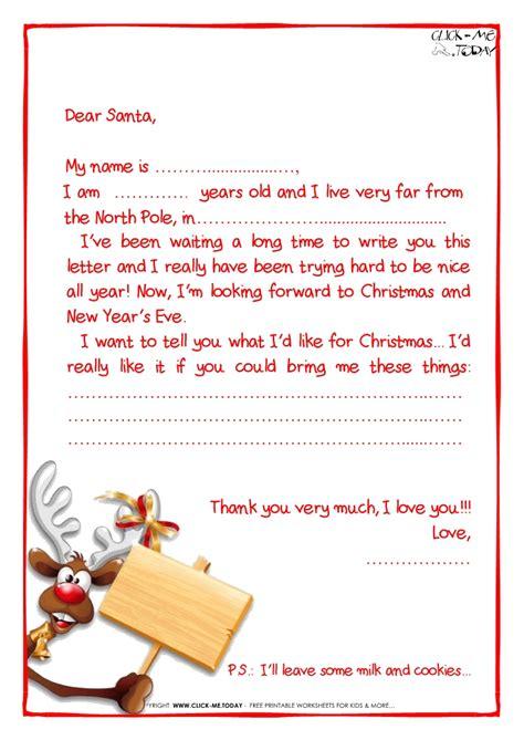 free christmas printables letter to santa reindeer food home printable sle letter to santa claus with ps reindeer 22