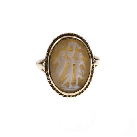 antiques atlas vintage cameo ring 9 carat gold three graces