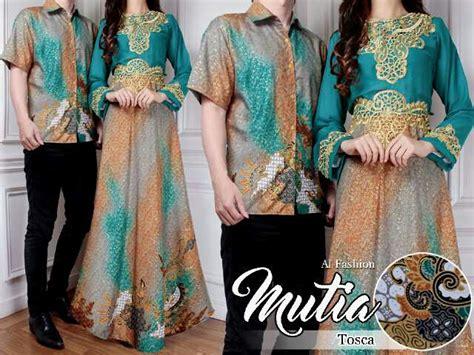Baju Muslim Batik Model Terbaru Murah Dress Batik Elegan Grosir 1 baju dress batik muslim model terbaru