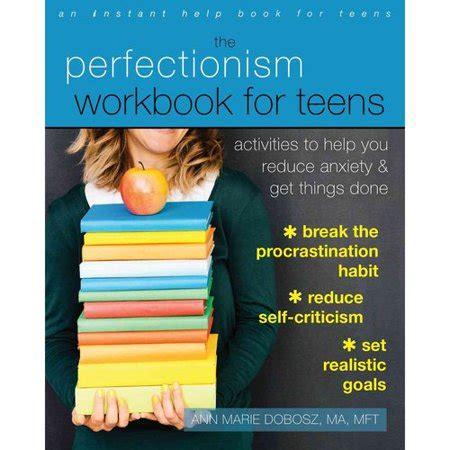 perfectionism workbook  teens activities