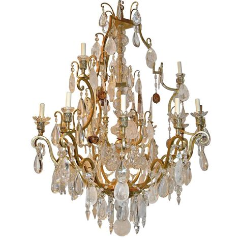 Large Neoclassic Rock Crystal Chandelier For Sale At 1stdibs Big Chandeliers For Sale