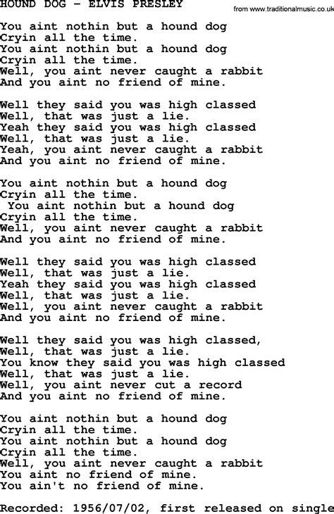 printable lyrics to jailhouse rock hound chords 28 images hound elvis chords chordify