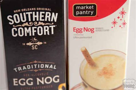 how to make southern comfort eggnog egg nog cupcake with eggnog drizzle among the young