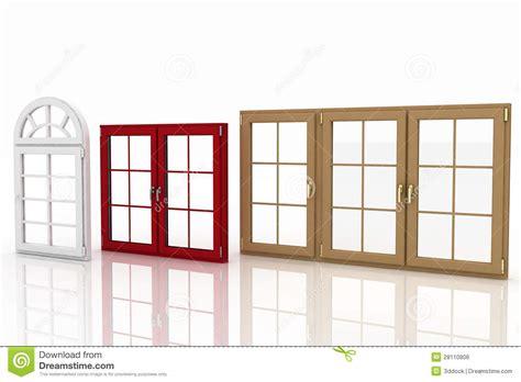 Cottage Floor Plans Free plastic windows on white royalty free stock image image