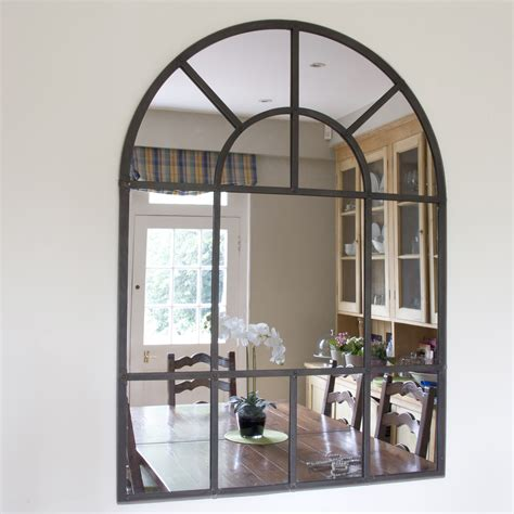 large metal framed arch mirror free uk delivery