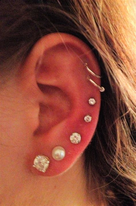 7 ear piercings tattoos piercings pinterest double