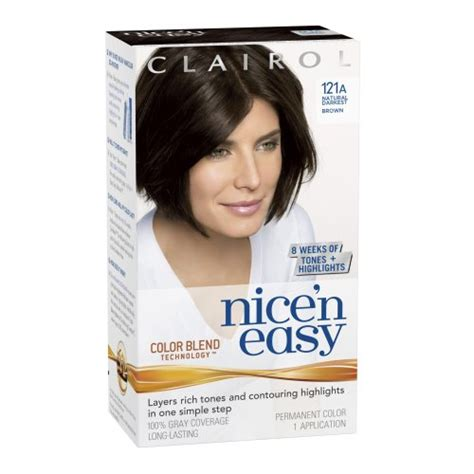 how to use nice n easy hair color clairol perfect 10 by nice n easy hair color 03 darkest