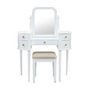 Makeup Vanity Set Bed Bath And Beyond Lamont Home Chelsea Vanity Set In White Bed Bath Beyond