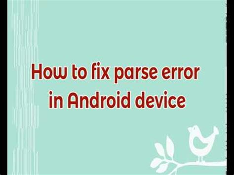 how to fix parse error apk how to fix parse error there is a problem parsing the package during apps installation