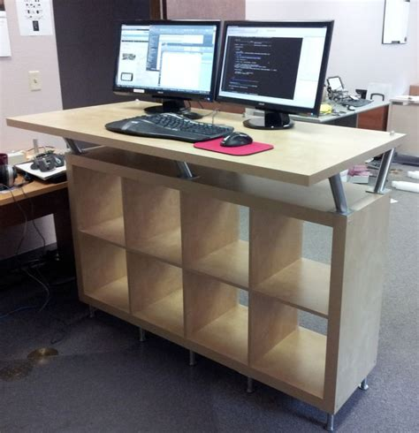 ikea hacks desk resemblance of working with ikea stand up desk face your