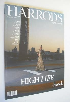 harrods magazine august 2008