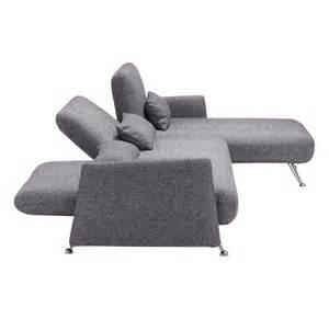 Sleeper Sectional Canada Zuo Modern Bizard Sleeper Sectional Sofa Ash Grey Disc