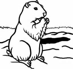 Groundhog Coloring Page sketch template
