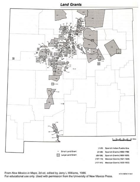 land grants map new mexico tells new mexico history land grants 1689