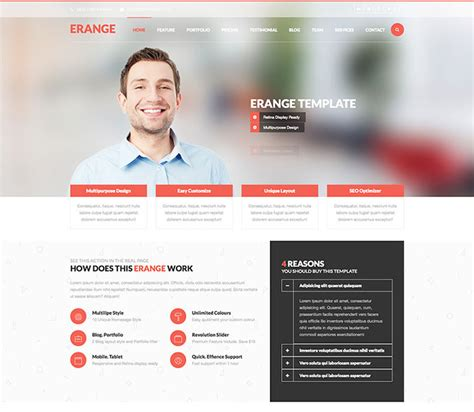 10 free html website templates for business web design business templates 43 professionally designed