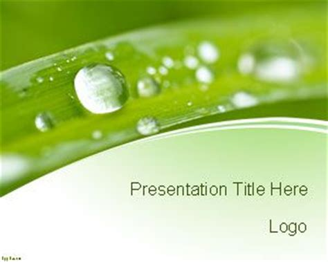 free templates powerpoint 2010 nature free nature conservation powerpoint template with green