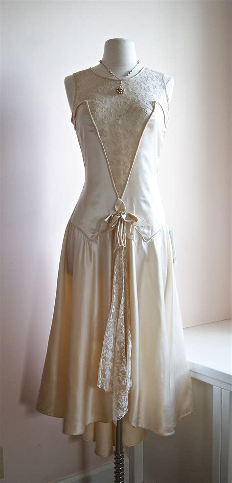 1920s Flapper Wedding Dresses | vintage 1920 s wedding dress 1920s costuming pinterest