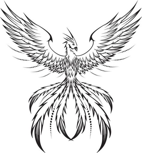 simple phoenix tattoo designs mosaic on behance sketches