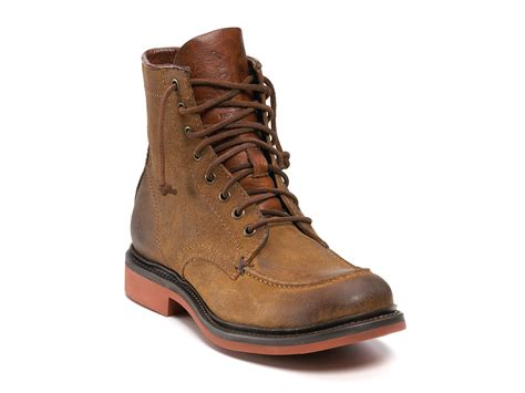 frye boots for frye wallace lace up boots in brown for lyst