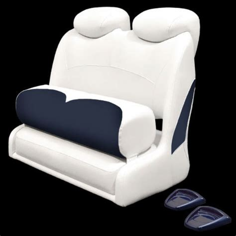 double wide back to back boat seats crownline white blue marine boat double wide two person