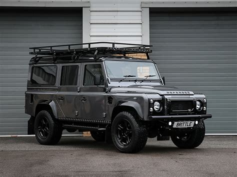 land rover defender 2015 black defender rich brit performance package 110 xs station