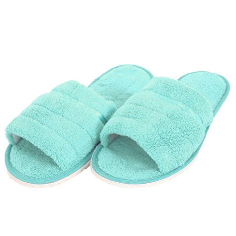open toe house slippers womens plush open toe slippers house shoes fuzzy soft warm