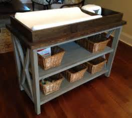 Building A Changing Table White Rustic X Diy Changing Table Diy Projects