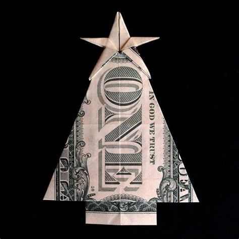 origami money christmas tree with gift money origami made by trinket2shop