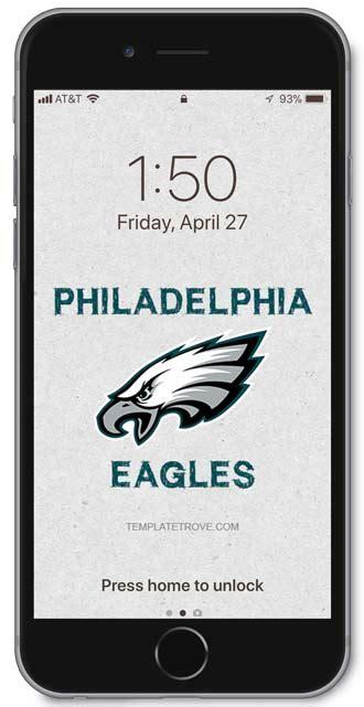 philadelphia eagles lock screen schedule  iphone