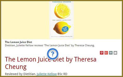 Lemon Juice Detox Diet Reviews by Health Benefits Of Lemon Juice Health Juices Healthy