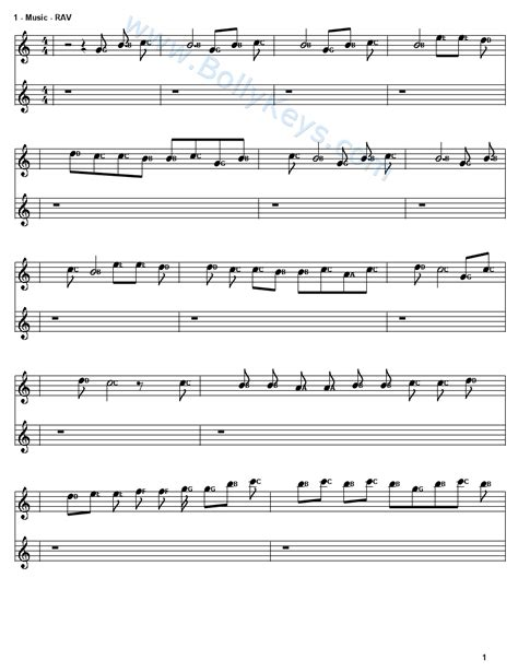 Learn To Play Raabta Sheet Music Free